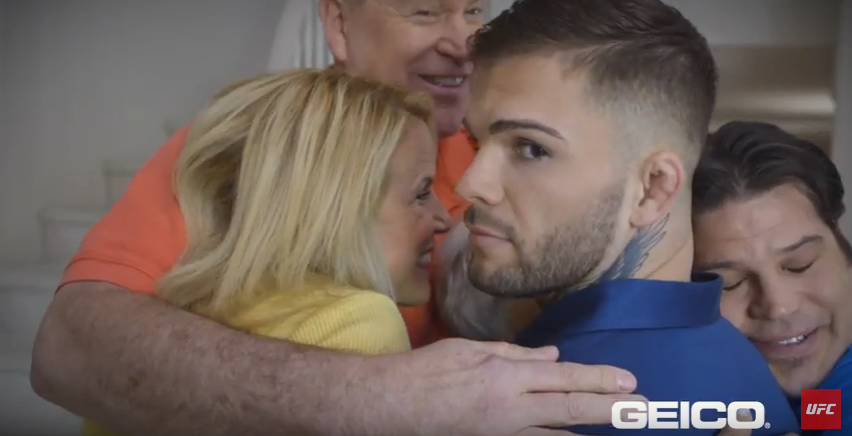 WATCH:  UFC bantamweight champion Cody Garbrandt in GEICO commercial