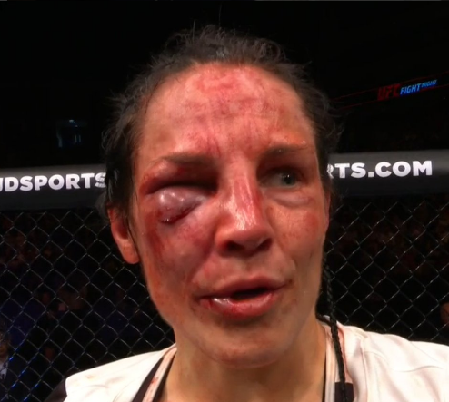 Lina Lansberg after unanimous decision win over Lucie Pudilova