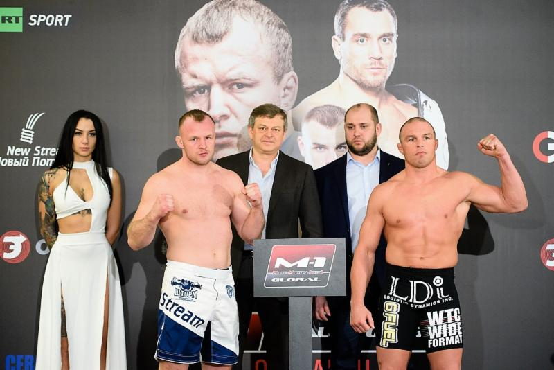 M-1 Challenge 75 weigh-in results - Alexander Shlemenko vs. Paul Bradley