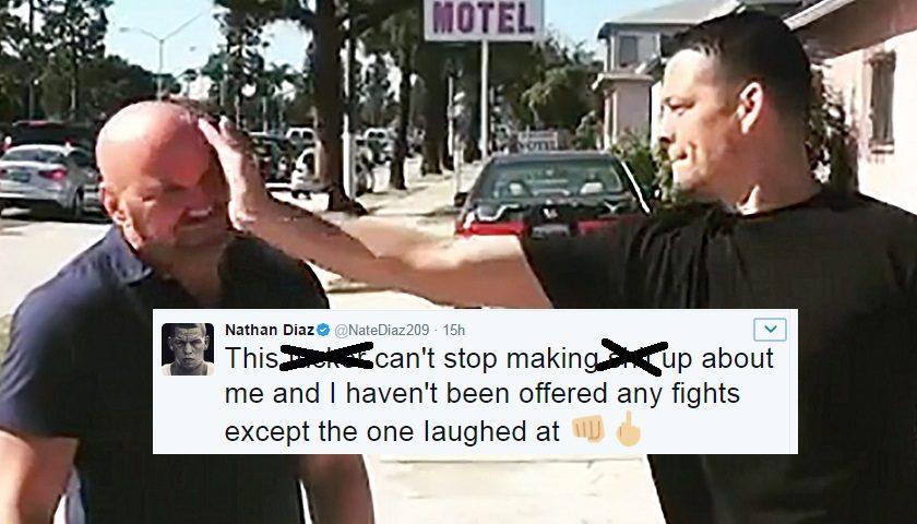"Nate Diaz calls UFC President Dana White a ""liar"" in profane tweet"