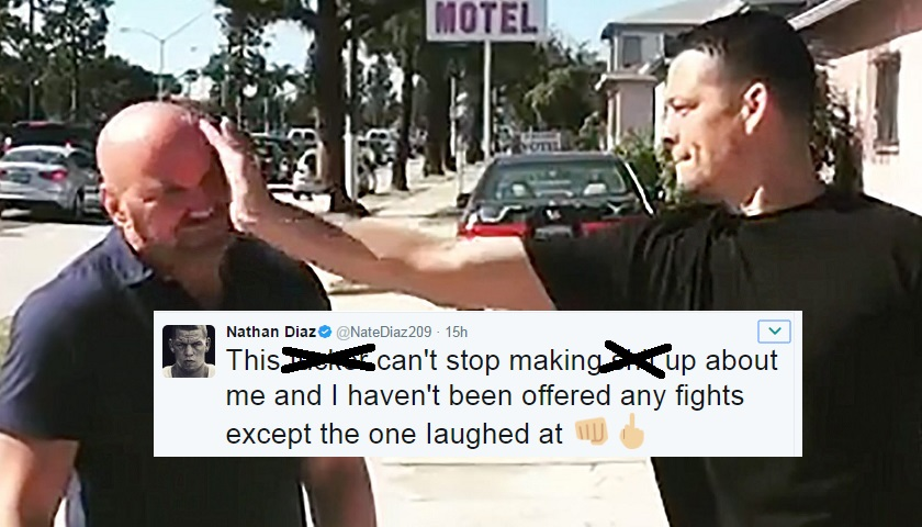 Nate Diaz calls UFC President Dana White a liar in profane tweet