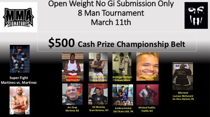Asylum MMA & BJJ Academy - Submission Only Grappling Tournament
