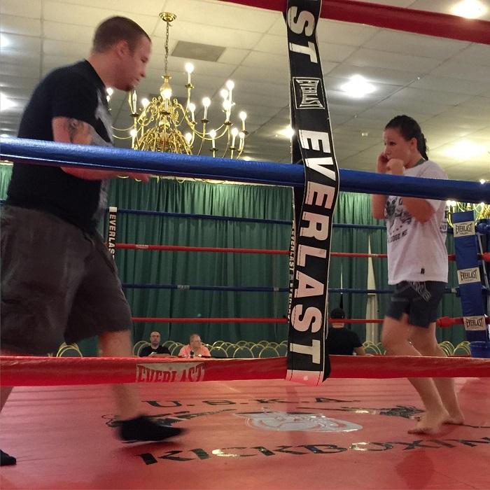 Terri Johnston training with Mark Krumrine Jr.
