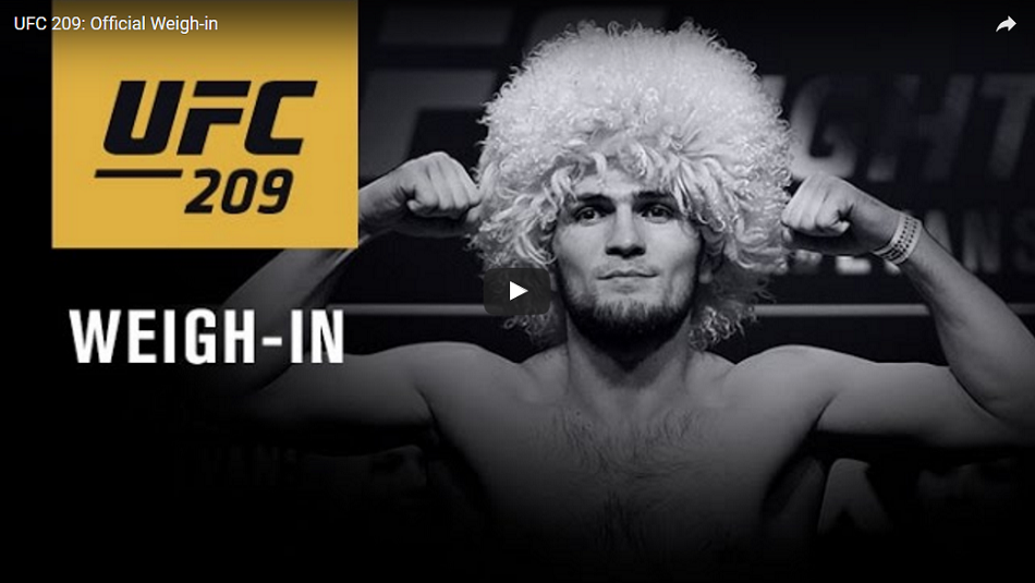 Watch UFC 209 ceremonial weigh-ins - 7pm EST/4pm PST (Early Results Here)