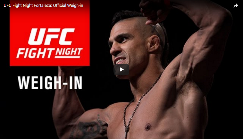 UFC Fight Night 106 weigh-in results: Belfort vs. Gastelum