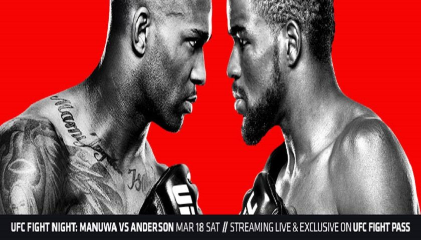 UFC Fight Night 107 – UFC London Results:  Corey Anderson vs. Jimi Manuwa