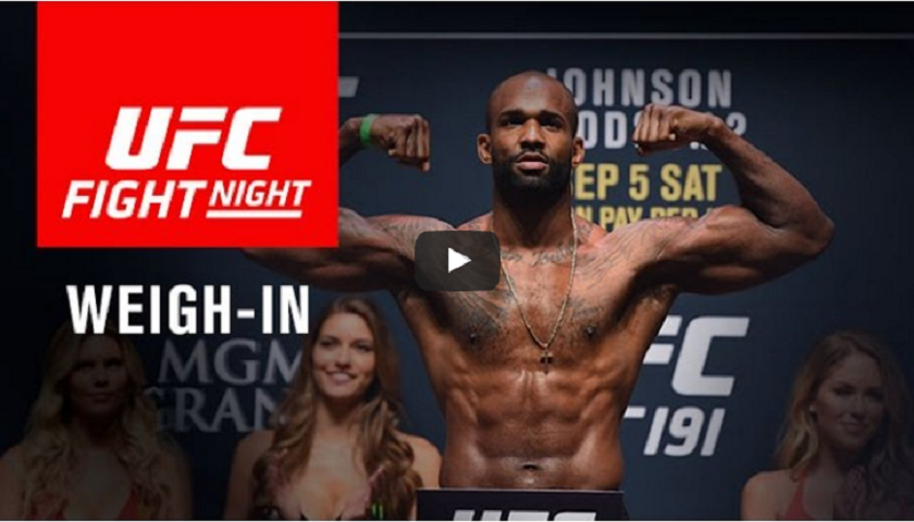WATCH: UFC Fight Night London Weigh-ins - Results - 1pm EST/10 am PST