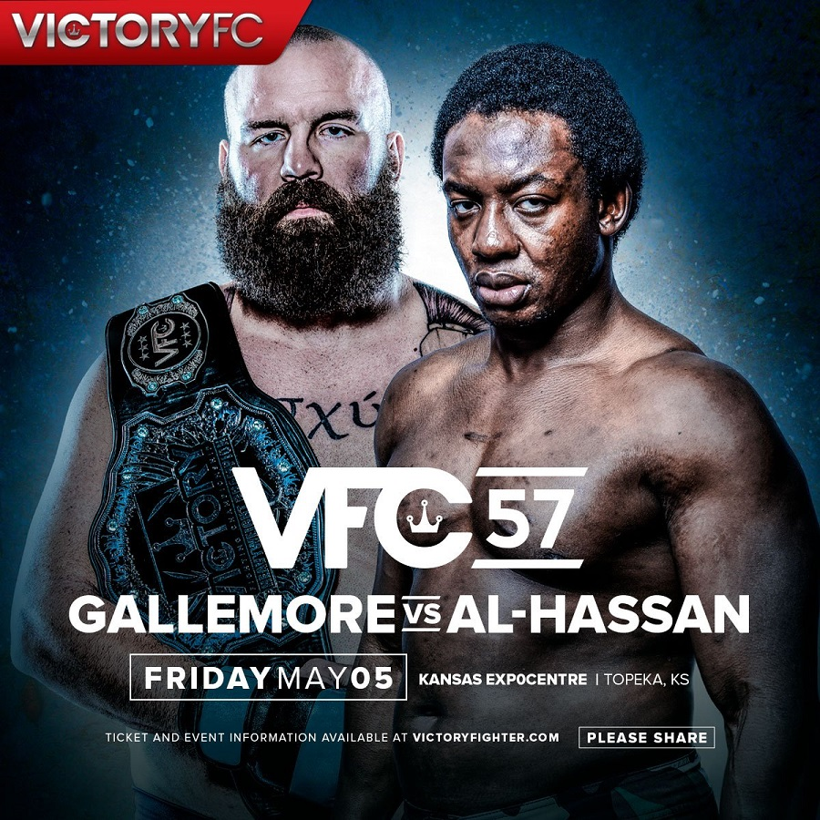 "'Big Kansas' Daniel Gallemore defends Victory Fighting Championship heavyweight title against ""Razor"" Razak Al-Hassan at VFC 57"