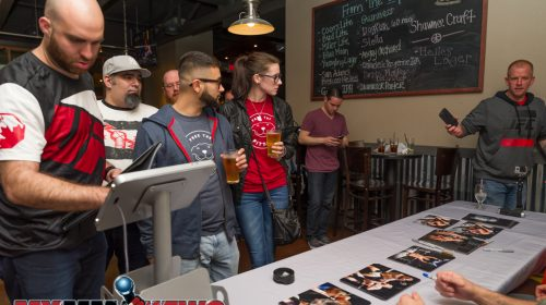 MMA fans at Trackside Station Grill & Bar