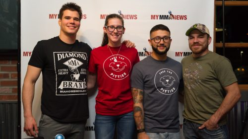 The Free the Pitties crew with Mickey Gall and Jim Miller