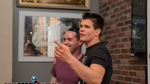 Tony Reid of Fighters Only and FloCombat with Mickey Gall