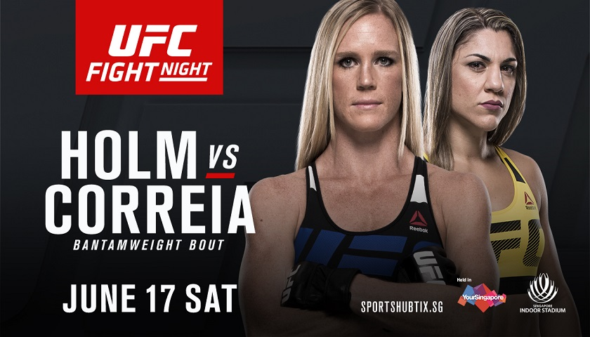 Holly Holm moves back down to bantamweight, takes on Bethe Correia in Singapore