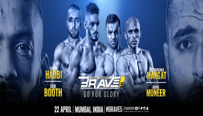 Brave Combat Federation to hold Brave 5: Go For Glory in Mumbai, India, April 23