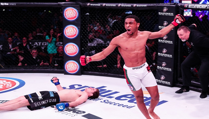 A.J. McKee scores first round head kick knockout at Bellator 178