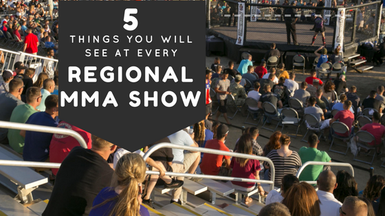 Blog Header for 5 Things You Will See at Every Regional MMA Show