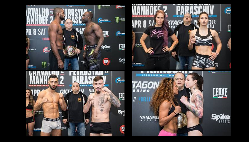 Weigh-in Photos and Results for Bellator 176 and Bellator Kickboxing 5 Events