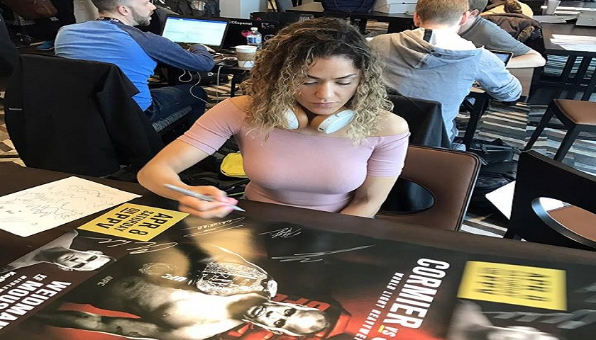 Pearl Gonzalez - Breast implants cause for UFC 210 fight cancellation