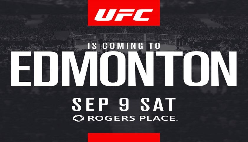 UFC debuts in Edmonton, Alberta, Canada in September
