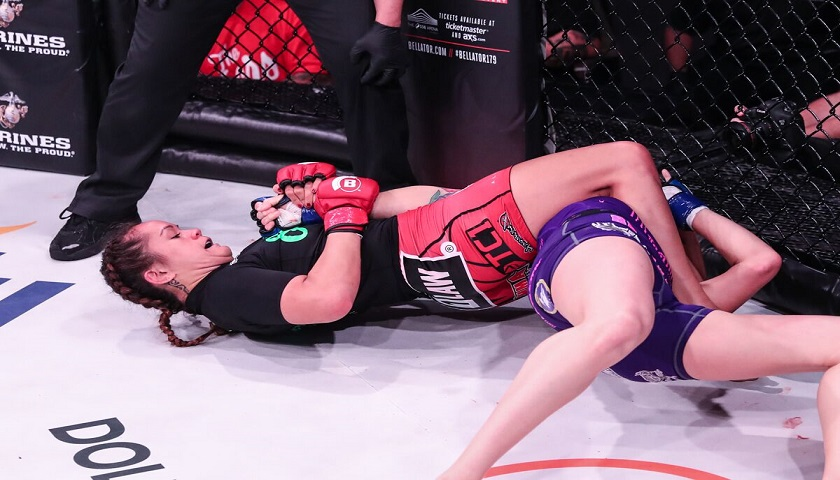 Ilima-Lei Macfarlane submits Jessica Middleton at Bellator 178