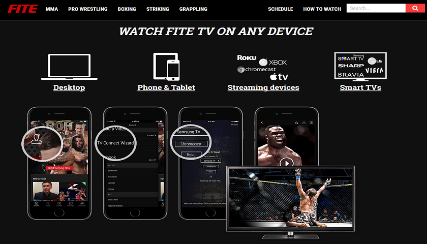 FITE TV, watch live fights, MMA events