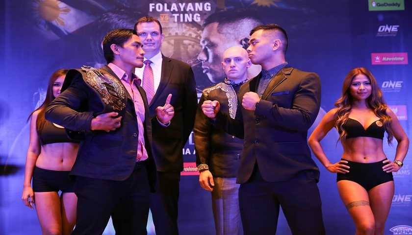 Eduard Folayang and Ev Ting face off in Manila, Philippines