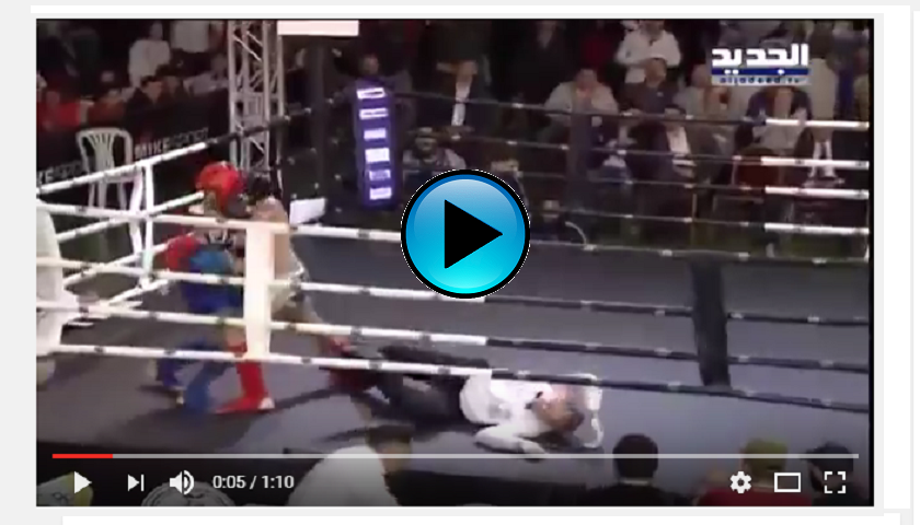 WATCH:  Referee knocked out during Muay Thai fight in Beirut, Lebanon
