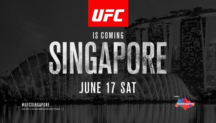 UFC Singapore tickets on sale April 13