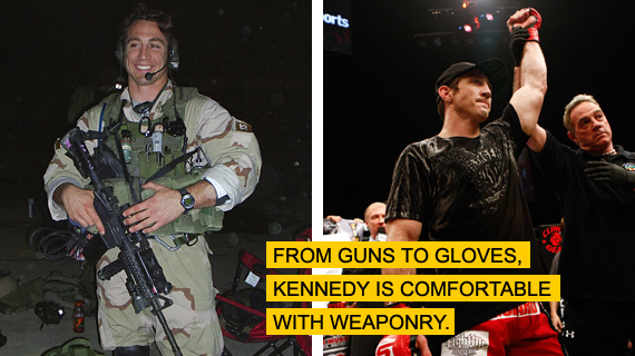 Sergeant First Class and former Strikeforce/ UFC veteran (from bodybuilding.com) Tim Kennedy.