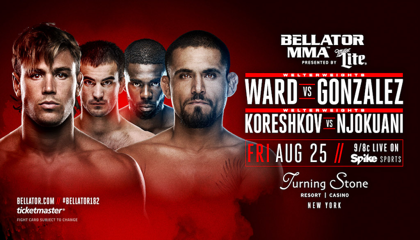 Andrey Koreshkov Takes on Chidi Njokuani in Main Event of Bellator 182 at Turning Stone Resort Casino on Aug. 25