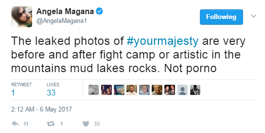 UFC stars hacked, Angela Magana