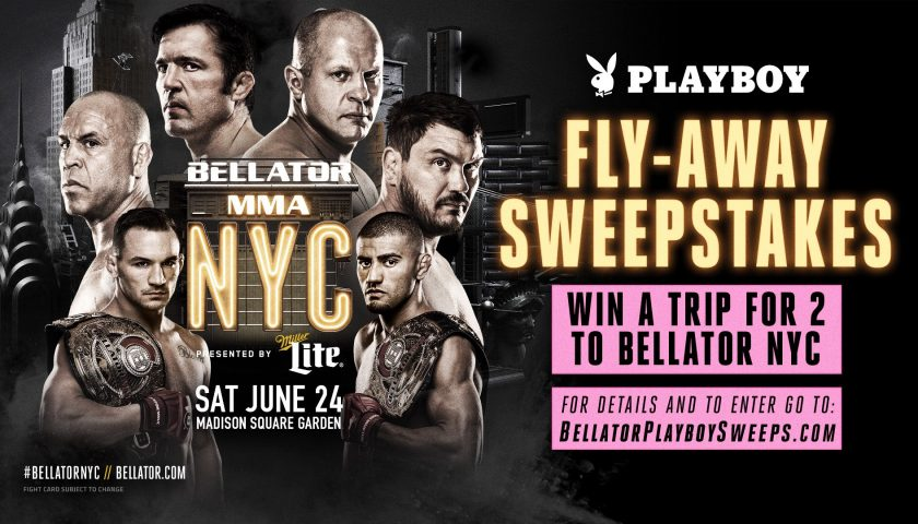 Playboy offering Bellator NYC fly-away sweepstakes