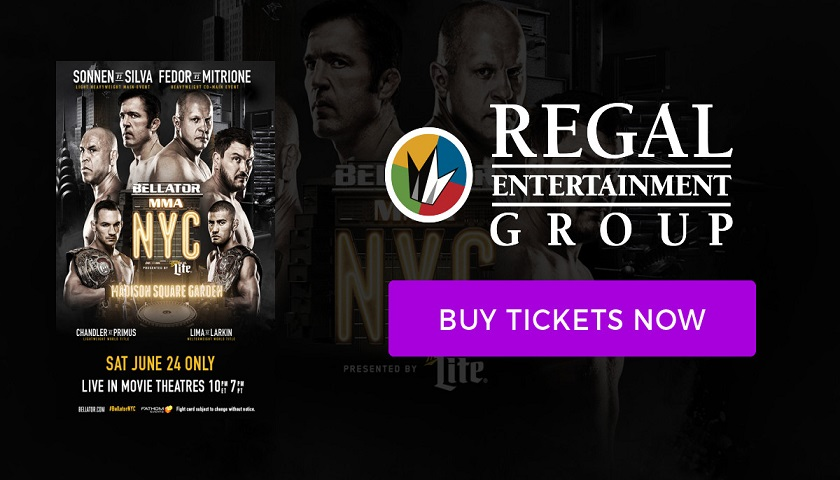 Watch Bellator NYC at your local movie theater - Tickets on sale Friday
