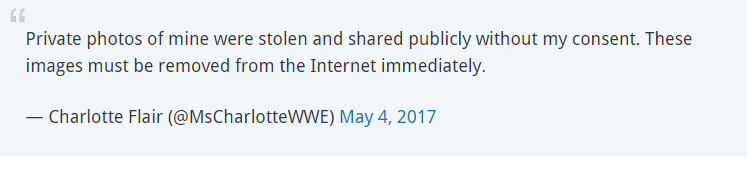 Charlotte Flair hacked
