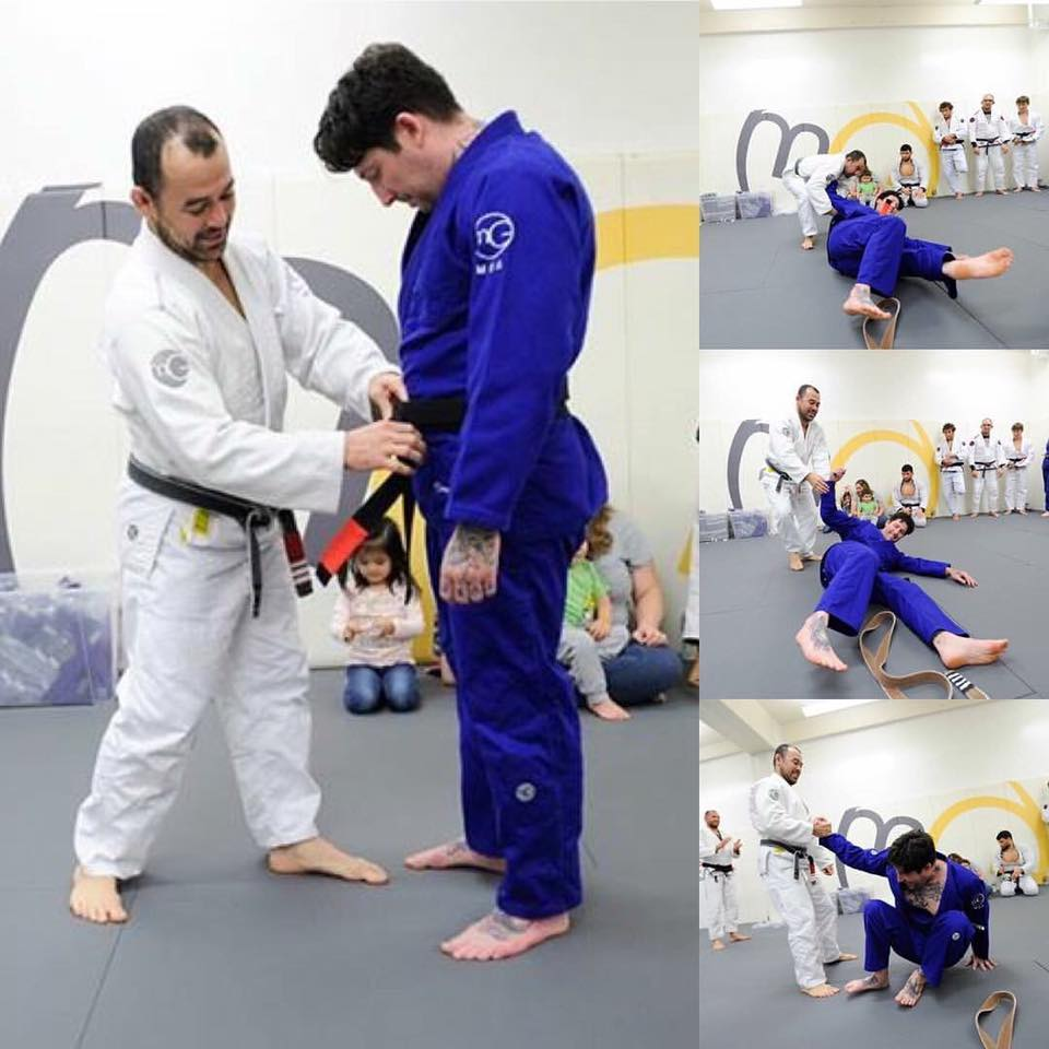Marcelo Garcia promotes Chris Civello to black belt