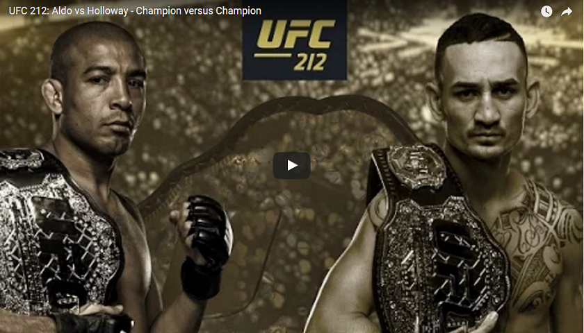 UFC 212: Aldo vs Holloway - Champion versus Champion promo videos released