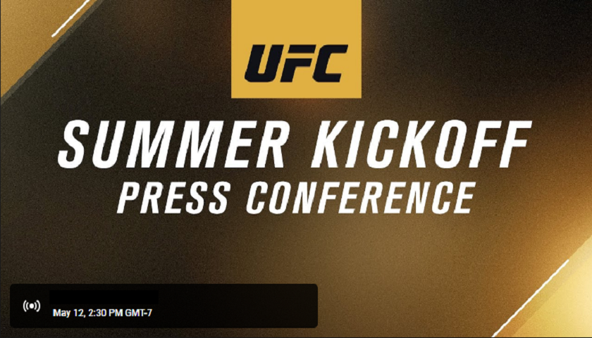WATCH: UFC Summer Kickoff Press Conference - 5:30 PM EST