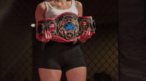 Art of War Cagefighting ring card girl
