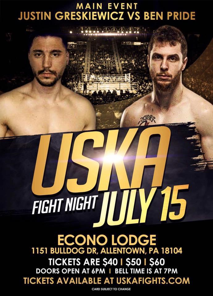 USKA Fight Night - Justin Greskiewicz vs. Ben Pride