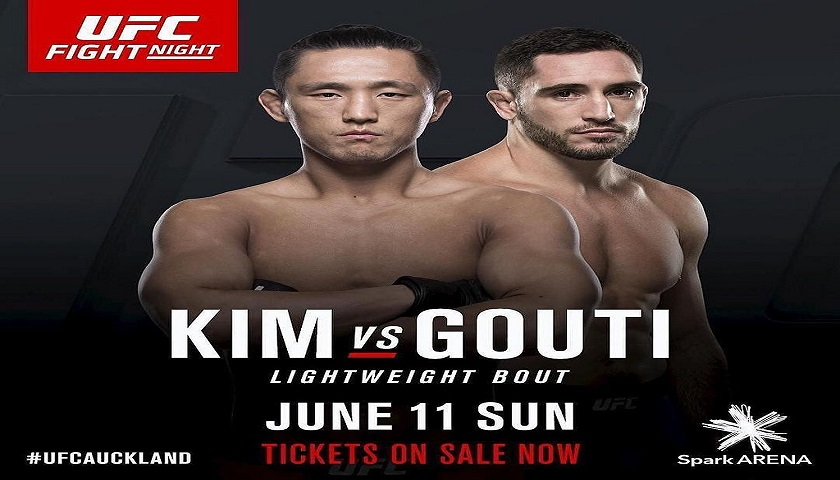 Thibault Gouti removed from tonight's UFC card in Auckland, New Zealand