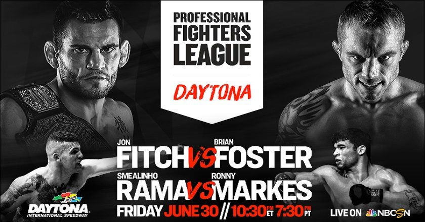 Professional Fighters League:  Daytona results – Fitch vs. Foster