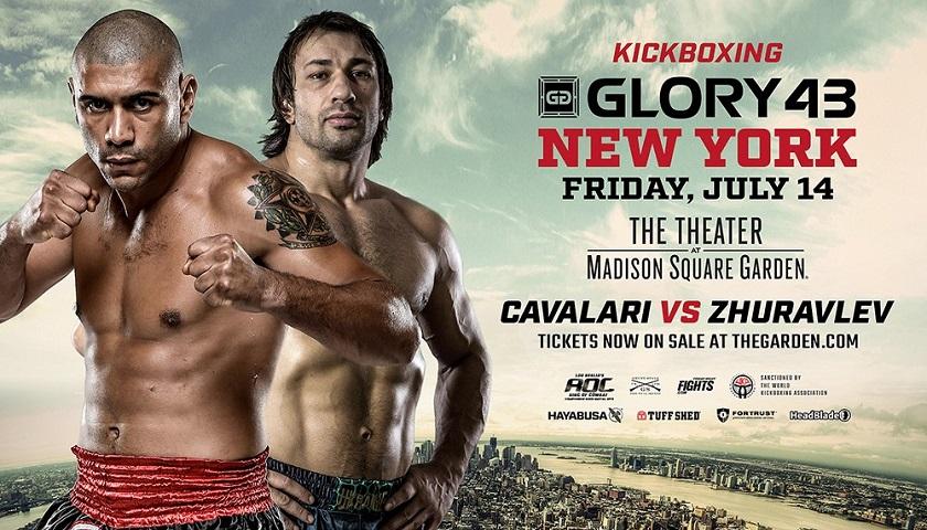 Former Light Heavyweight Champion Saulo Cavalari Meets Pavel Zhuravlev in GLORY 43 SuperFight Series Headline Bout