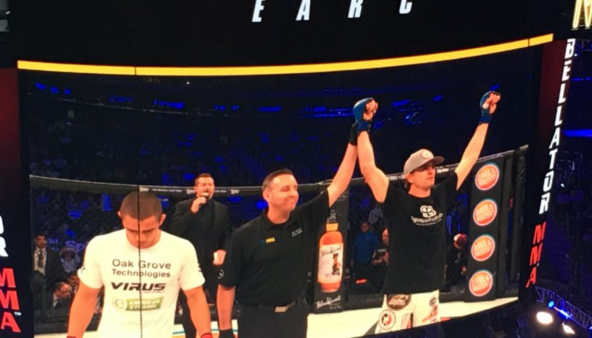 Zach Freeman Chokes out Aaron Pico at Bellator NYC