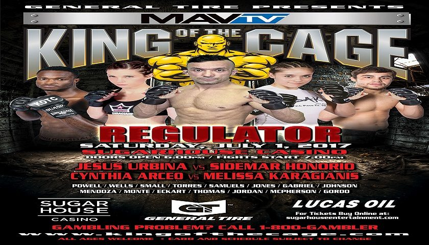 """King of the Cage Debuts at SugarHouse Casino, July 1 for """"REGULATOR"""""""