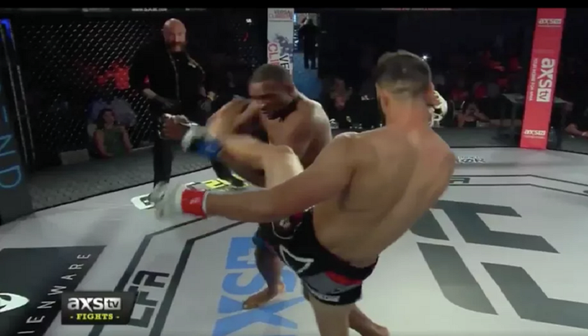 VIDEO:  Showboating fighter gets knocked out with head kick at LFA 13