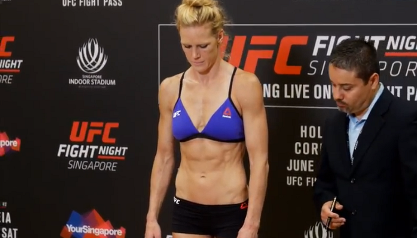 UFC Fight Night 111 Weigh-in Results - Holm vs. Correia from Singapore