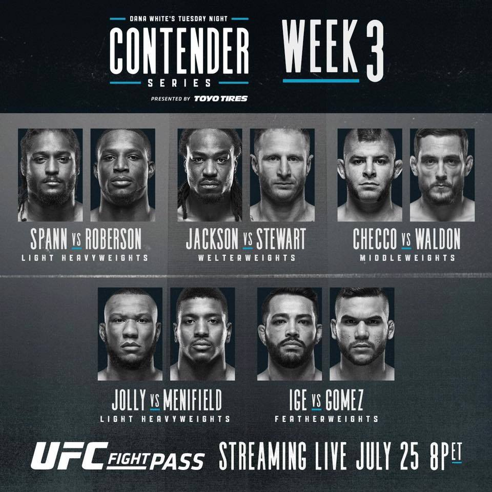 Dana White's Tuesday Night Contender Series - Week 3 Results