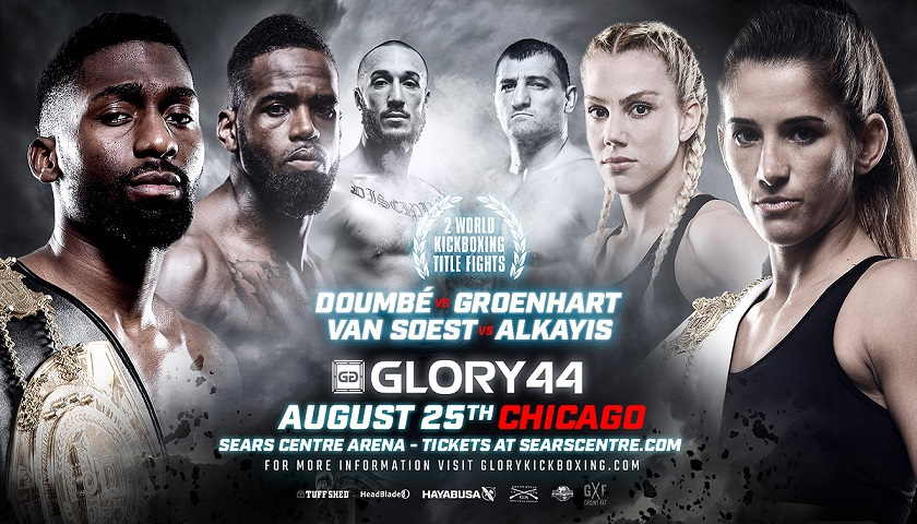 GLORY brings two title fights to Sears Centre Arena in Chicago, August 25