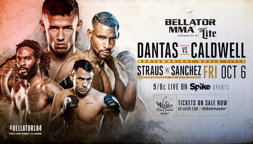 Dantas vs. Caldwell for Bantamweight Title Headlines Bellator 184, October 6