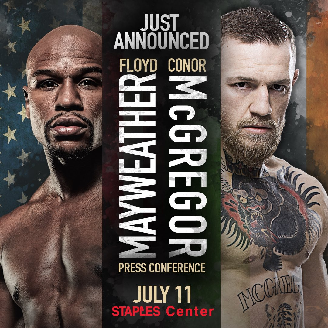 Mayweather vs. McGregor World Tour Kicks Off in Los Angeles, Tuesday