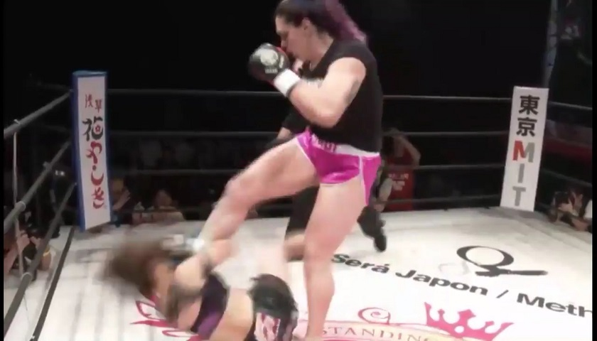 Gabi Garcia Shoot Boxing fight ends in no-contest after illegal soccer kick